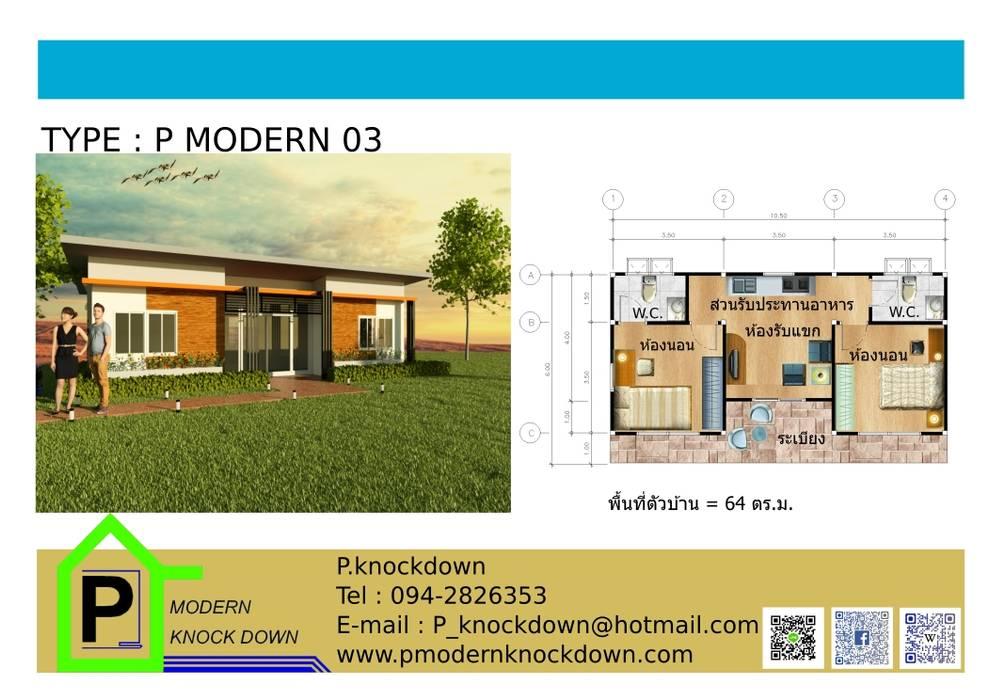 TYPE P MODERN 03:  บ้านและที่อยู่อาศัย by P Knockdown Style Modern
