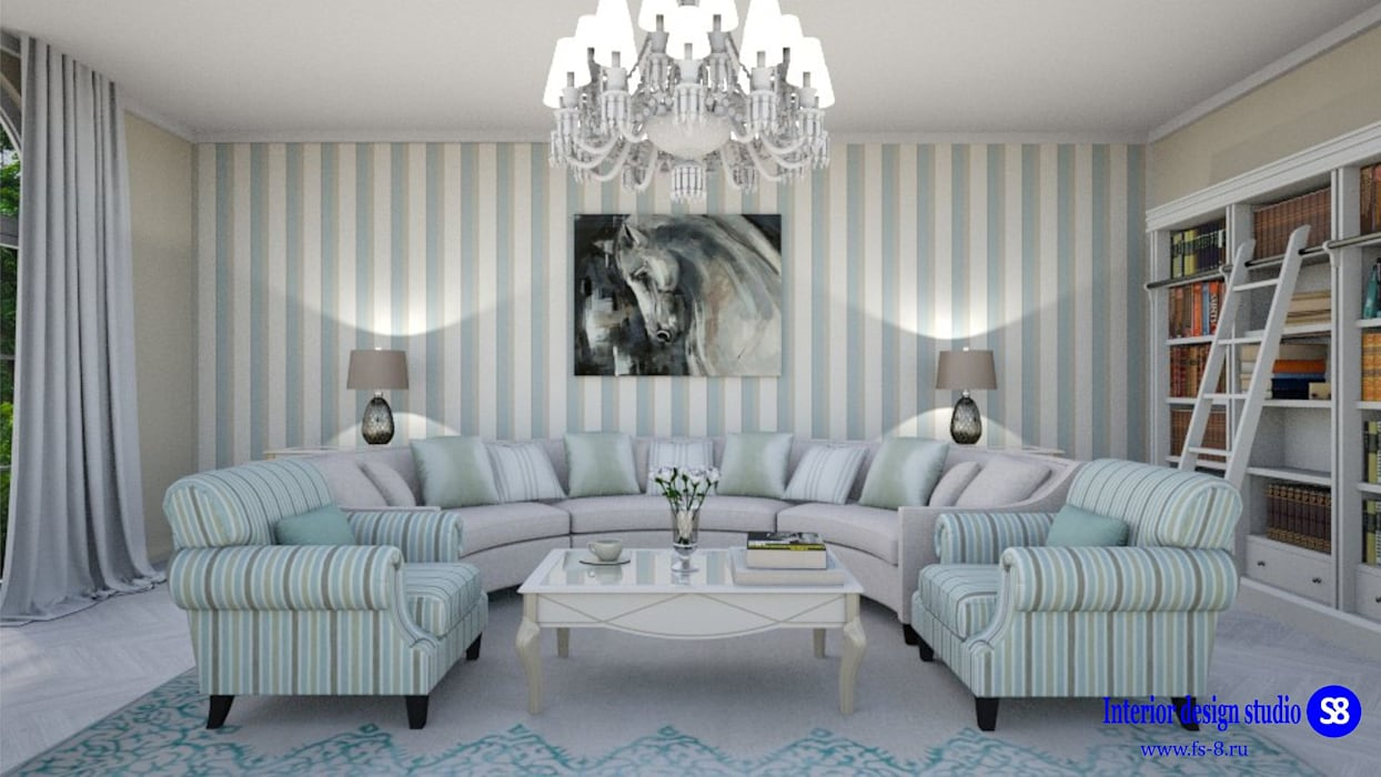 Living room in classic style by 'Design studio S-8' Classic