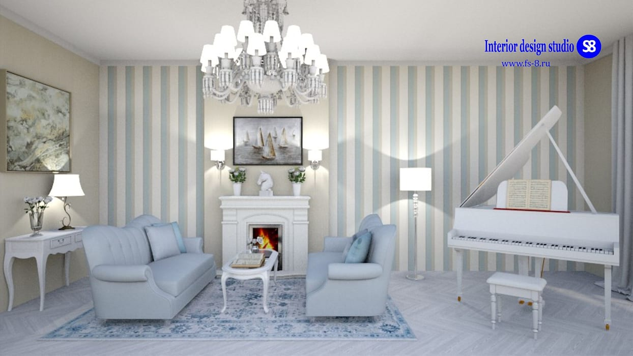 Living room in classic style:  Living room by 'Design studio S-8'