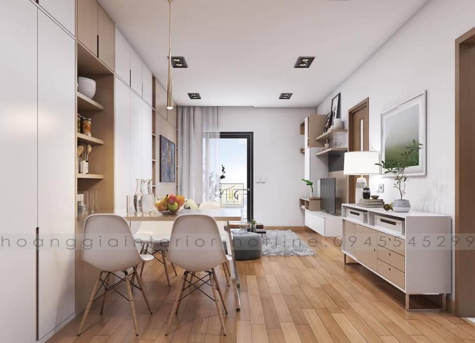 Thiết kế nội thất căn hộ chung cư Park Hill Time city - nhà anh Linh bởi Nội Thất Hoàng Gia Bắc Âu