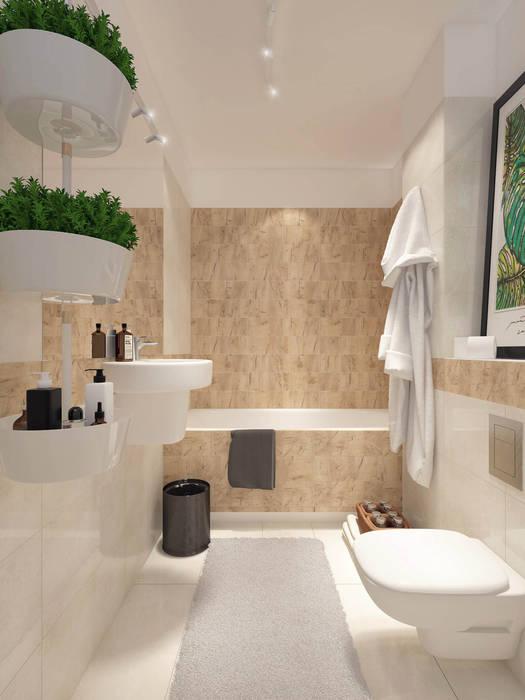 Biel I Drewno Styl W Kategorii łazienka Zaprojektowany