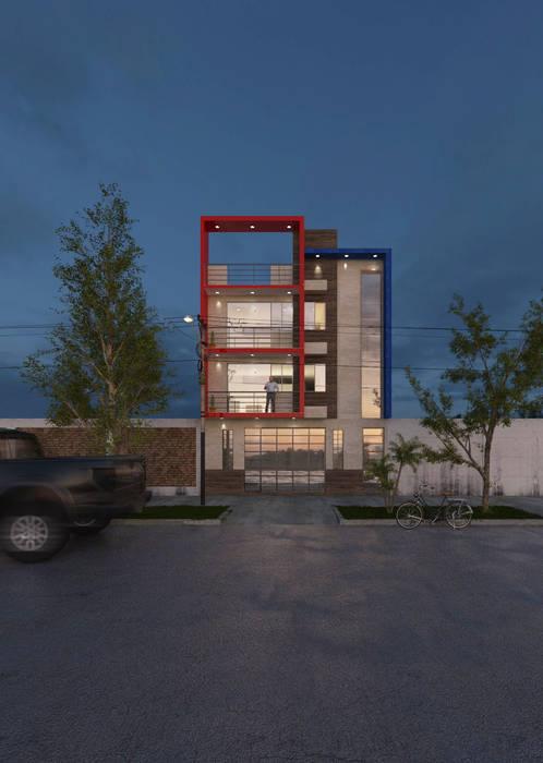 VIVIENDA MULTIFAMILIAR - CHICLAYO: Casas multifamiliares de estilo  por CN y Arquitectos, Moderno Concreto