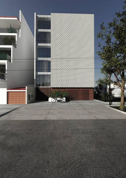 PROPUESTA DE DISEÑO Y CONSTRUCCIÓN - VIVIENDA MULTIFAMILIAR LA VICTORIA - CHICLAYO CN y Arquitectos Casas multifamiliares Concreto reforzado Blanco