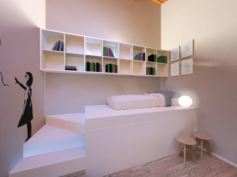 غرفة نوم تنفيذ Flavia Benigni Architetto