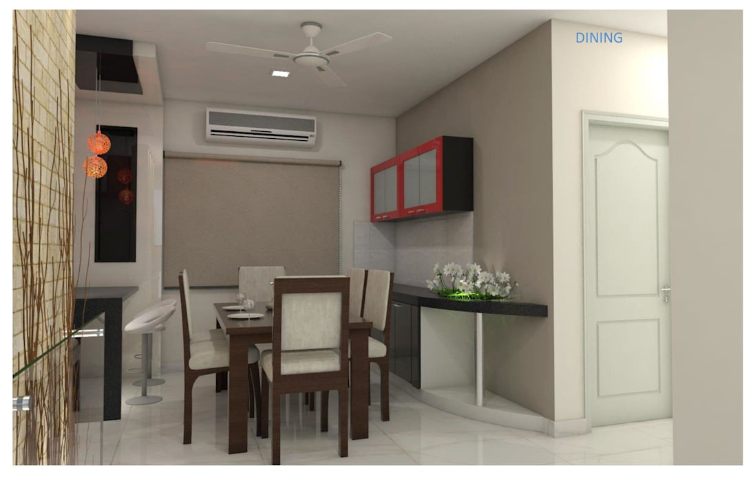 Asian style dining room by shree lalitha consultants Asian Engineered Wood Transparent