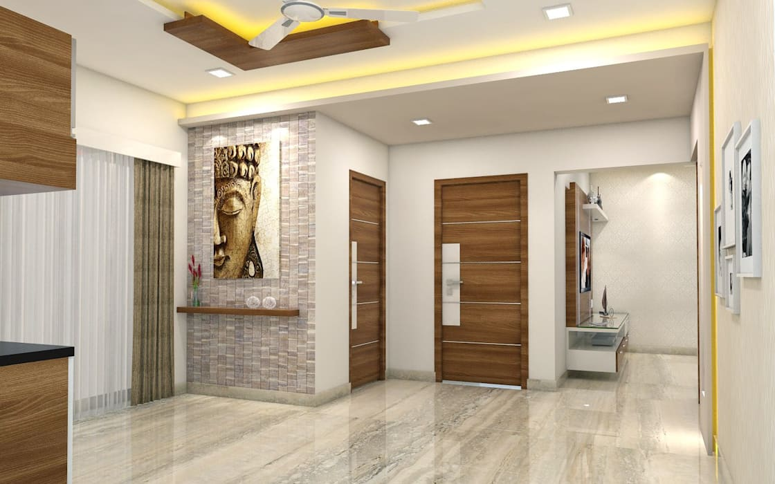 PROJECT @ GACHIBOWLI Asian style dining room by shree lalitha consultants Asian Plywood