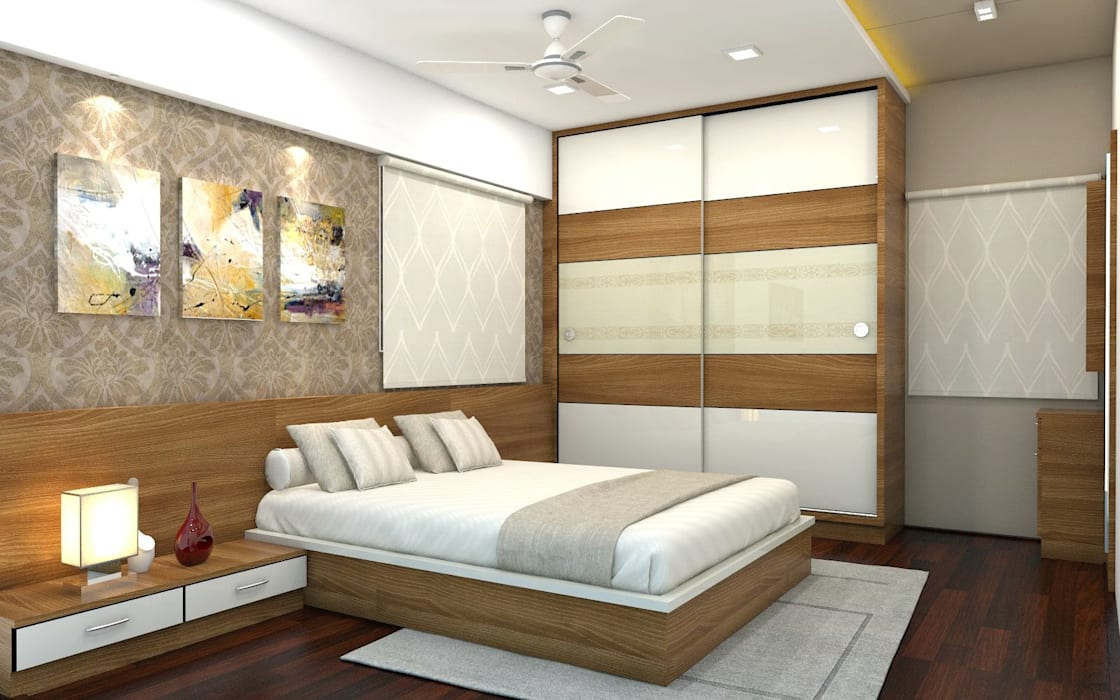 PROJECT @ GACHIBOWLI:  Bedroom by shree lalitha consultants