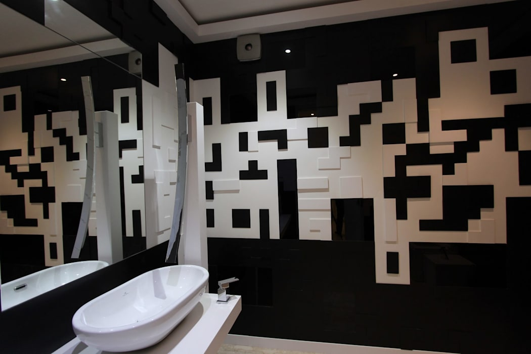 Introverted House:  Bathroom by Conarch Architects