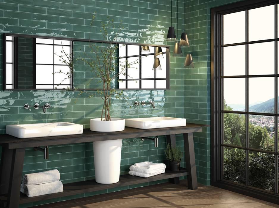 Elegantes Badezimmer mit Wandfliesen:  Badezimmer von Fliesen Sale