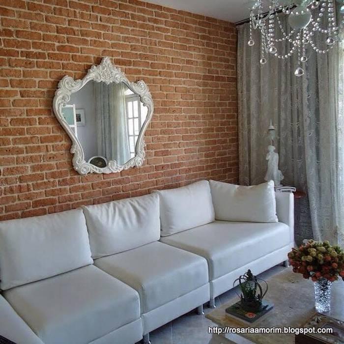 Brique Terracota Salas de estar rústicas por Guaraúna Revestimentos Rústico