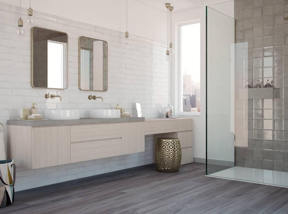 Wandfliesen im shabby-chic look im badezimmer: badezimmer ...