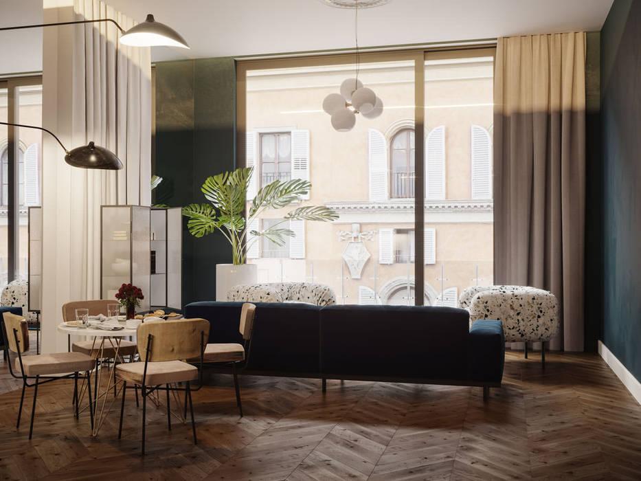 Salones de estilo  de Archventil - Architecture and Design Studio, Moderno