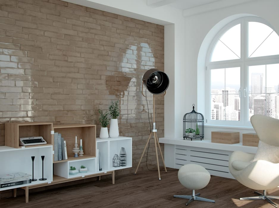 Wohnzimmer mit wandfliesen gestalten moderne wohnzimmer von ...