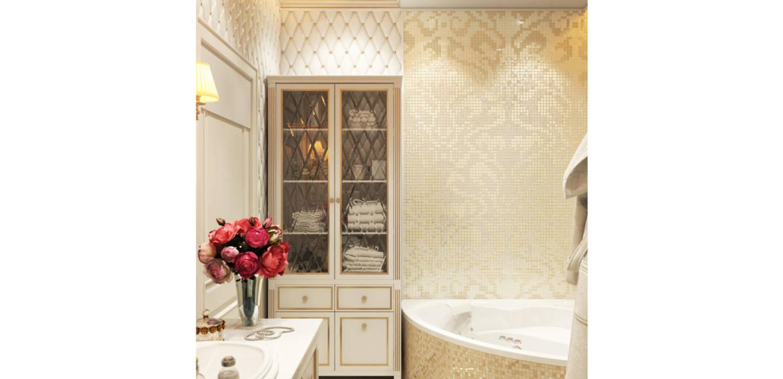 Дизайн дома в итальянском квартале:  Ванна кімната by ДизайнРемонт