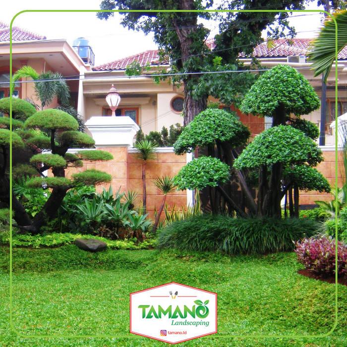Taman Halaman Rumah Bangunan Kantor Tropis Oleh tamano Tropis