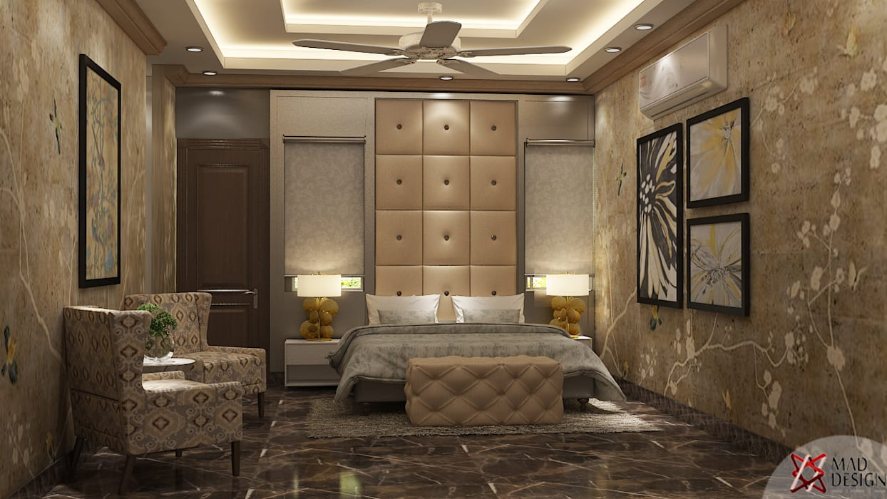 MASTER BEDROOM VIEW 1 Modern style bedroom by homify Modern