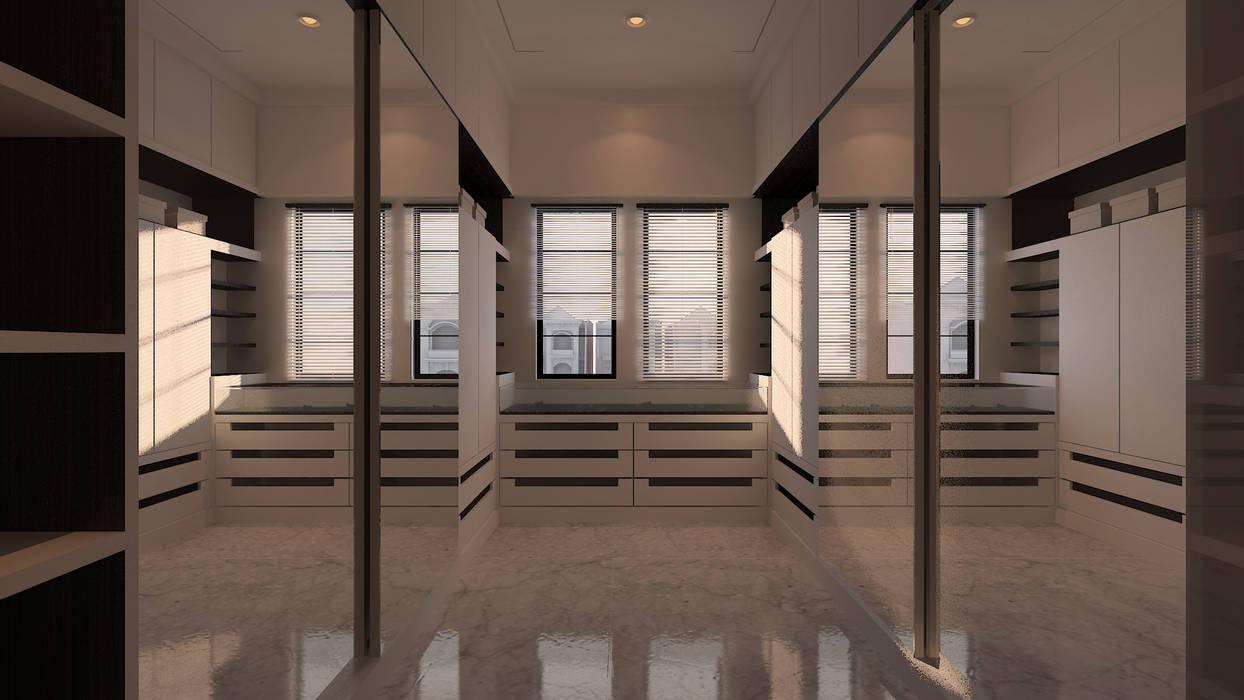 Walking Wardrobe: Ruang Ganti oleh Chandra Cen Design, Modern