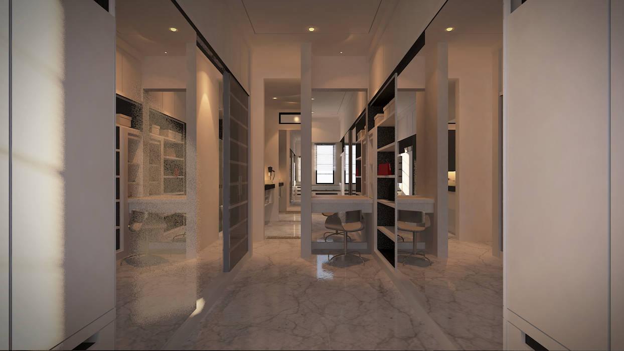 Walking Closet: Ruang Ganti oleh Chandra Cen Design, Modern