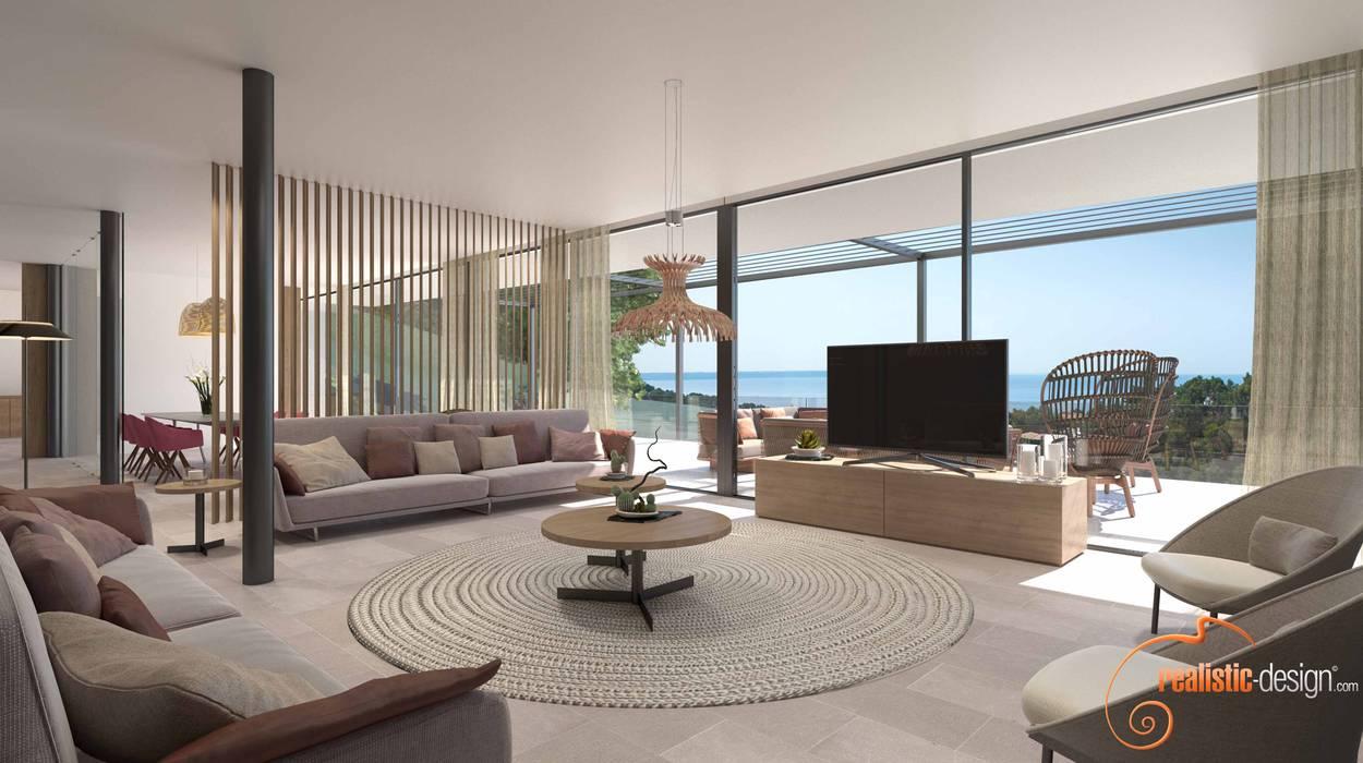 Perspectivas 3d - comedores: salones de estilo de realistic-design ...