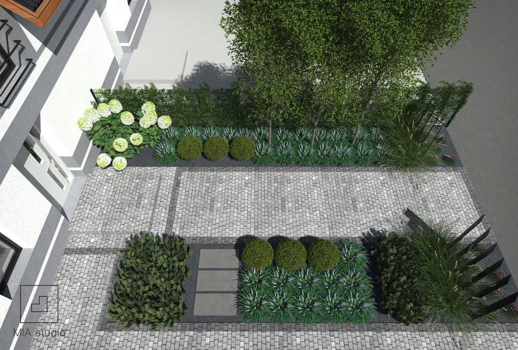 Projekt Ogrodu Przed Domem Styl W Kategorii Zaprojektowany Przez
