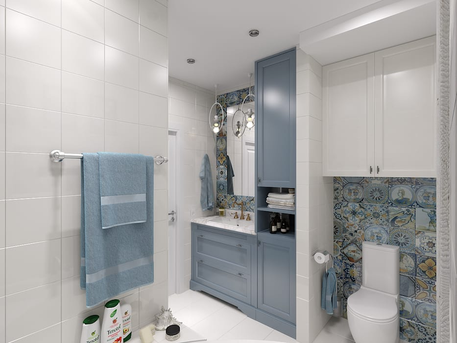 Phòng tắm phong cách kinh điển bởi Мастерская дизайна Онищенко Марии Kinh điển