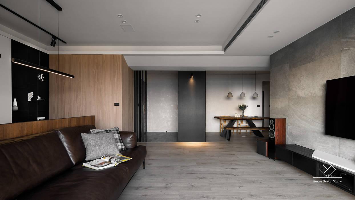 客廳:  客廳 by 極簡室內設計 Simple Design Studio
