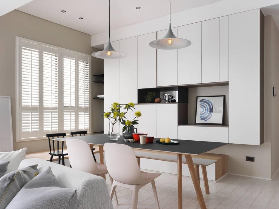 賀澤室內設計 HOZO_interior_design의  다이닝 룸
