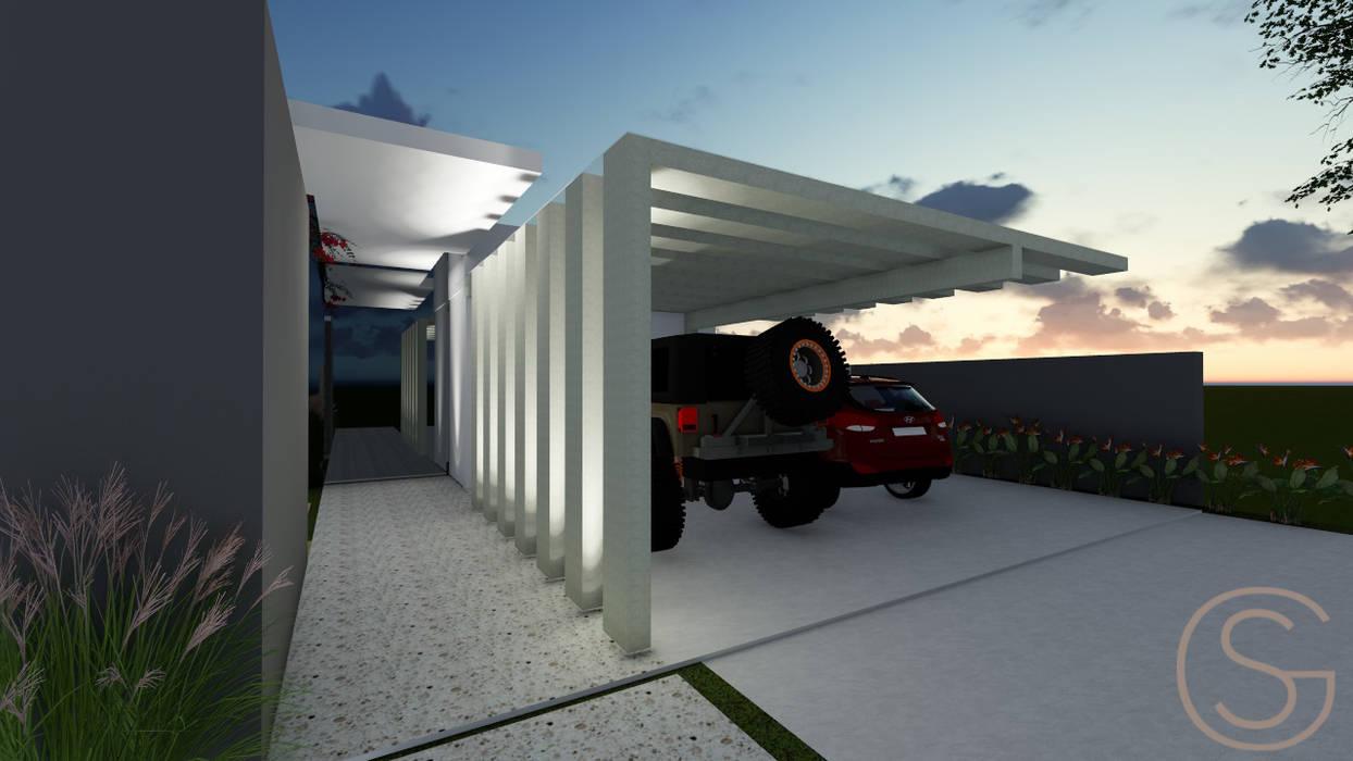 Tropical style garage/shed by Gislene Soeiro Arquitetura e Interiores Tropical