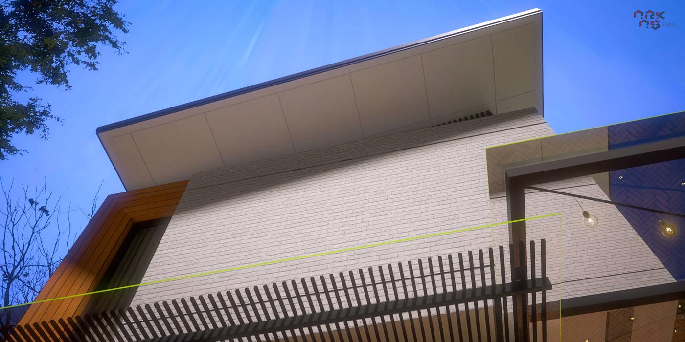 Eksterior Rumah Tinggal Industrial Style, Nonongan, Surakarta:  Rumah tinggal  by ARKAStudio