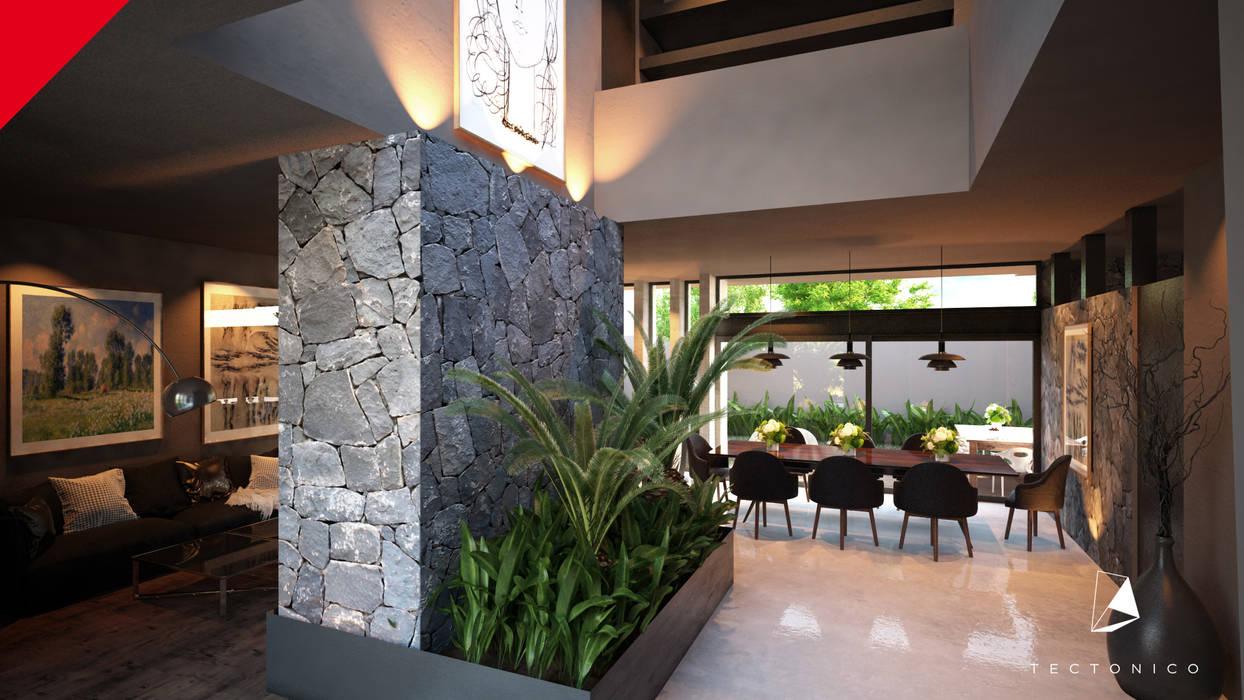 : Pasillos y recibidores de estilo  por Tectónico, Moderno