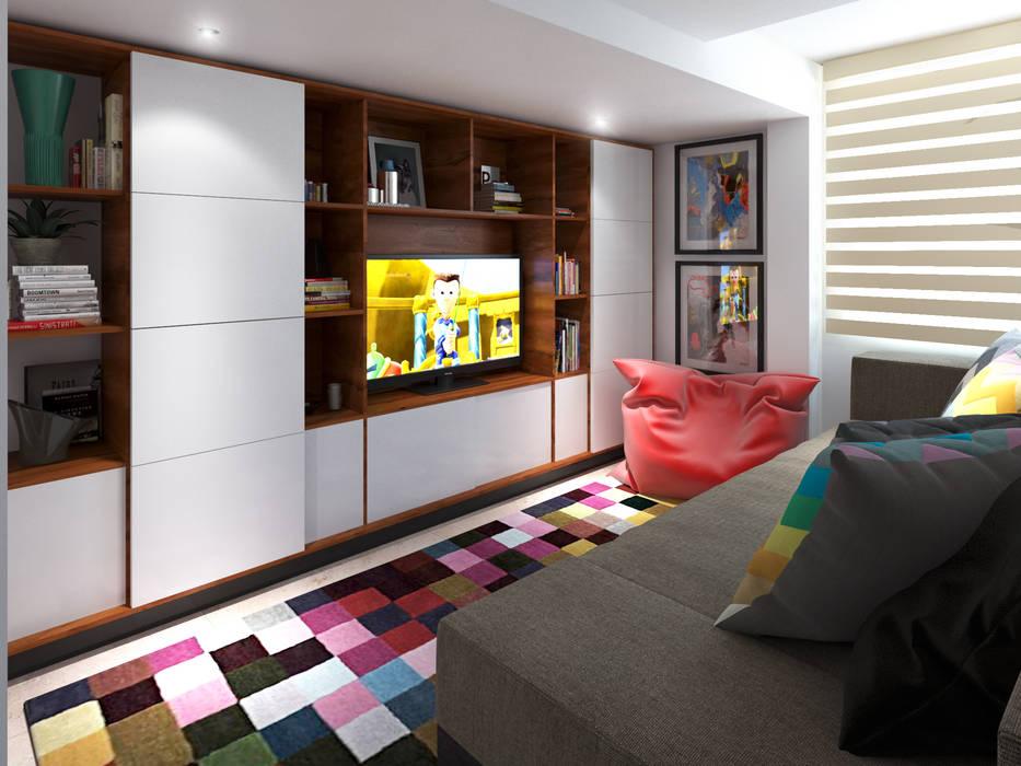 Sala: Salas de estilo  por MG estudio de arquitectura, Moderno