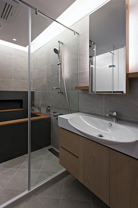 主浴:  浴室 by 禾光室內裝修設計 ─ Her Guang Design, 現代風