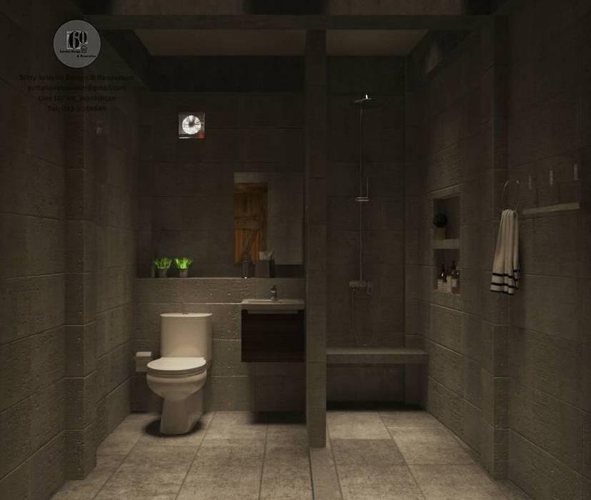 ห้องน้ำ โดย sixty interior design & renovation ผสมผสาน