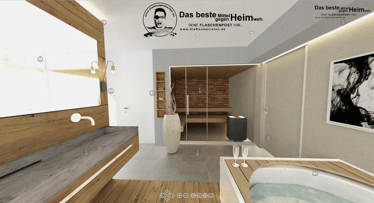 Bad mit sauna: badezimmer von die raumpiraten®,modern | homify