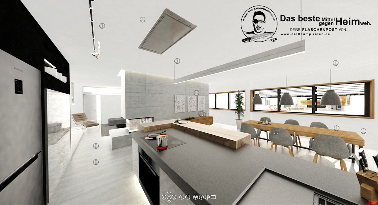 Küche Mit Offenem Wohn Essbereich Esszimmer Von Die Raumpiraten