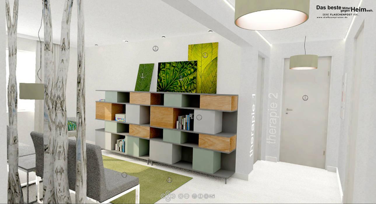 Wartezimmer Praxis für Logopädie: moderne Arbeitszimmer von DIE RAUMPIRATEN®