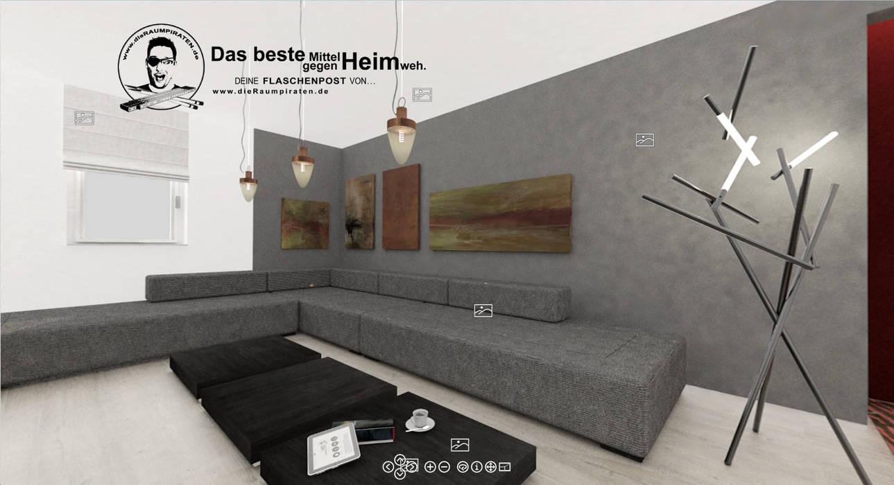 Wohnzimmer mit Bilderwand: moderne Wohnzimmer von DIE RAUMPIRATEN®