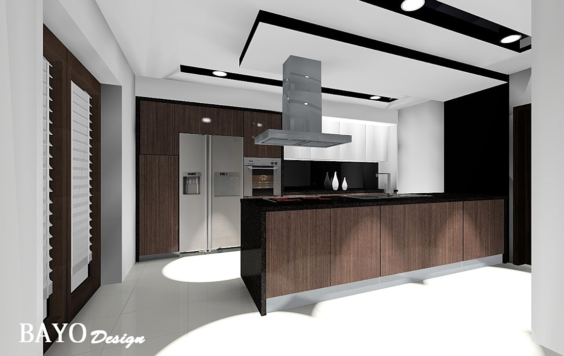 House 1:  Kitchen by BAYO  Design