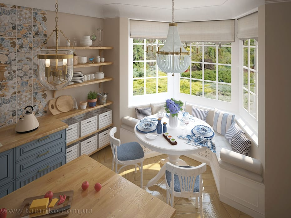 Dining room by Tamriko Interior Design Studio, Country