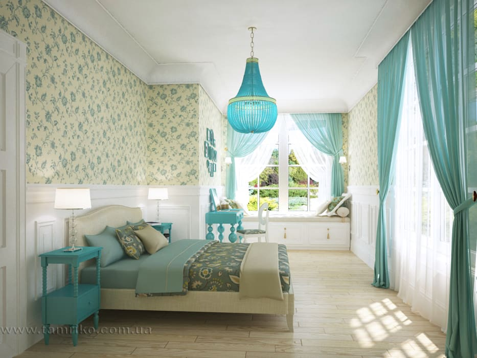 Phòng ngủ theo Tamriko Interior Design Studio, Đồng quê