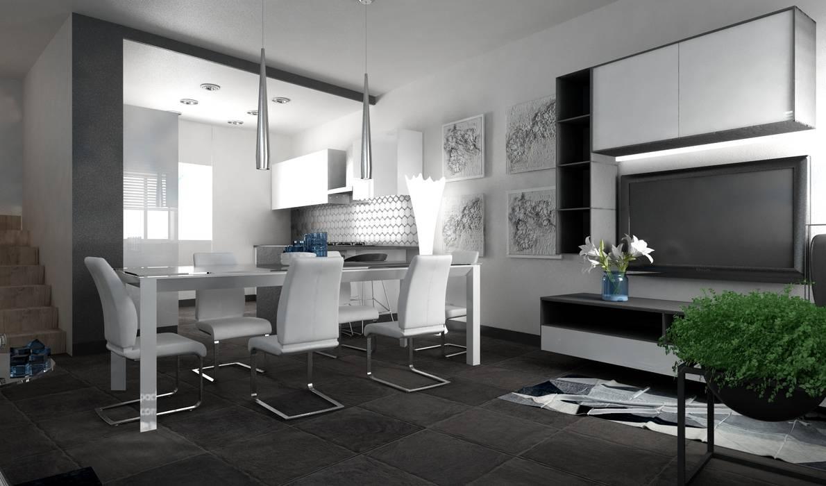 Progettazione soggiorno Verona per InteriorBe: Soggiorno in stile  di SAMANTHA PASTRELLO INTERIOR DESIGN, Moderno