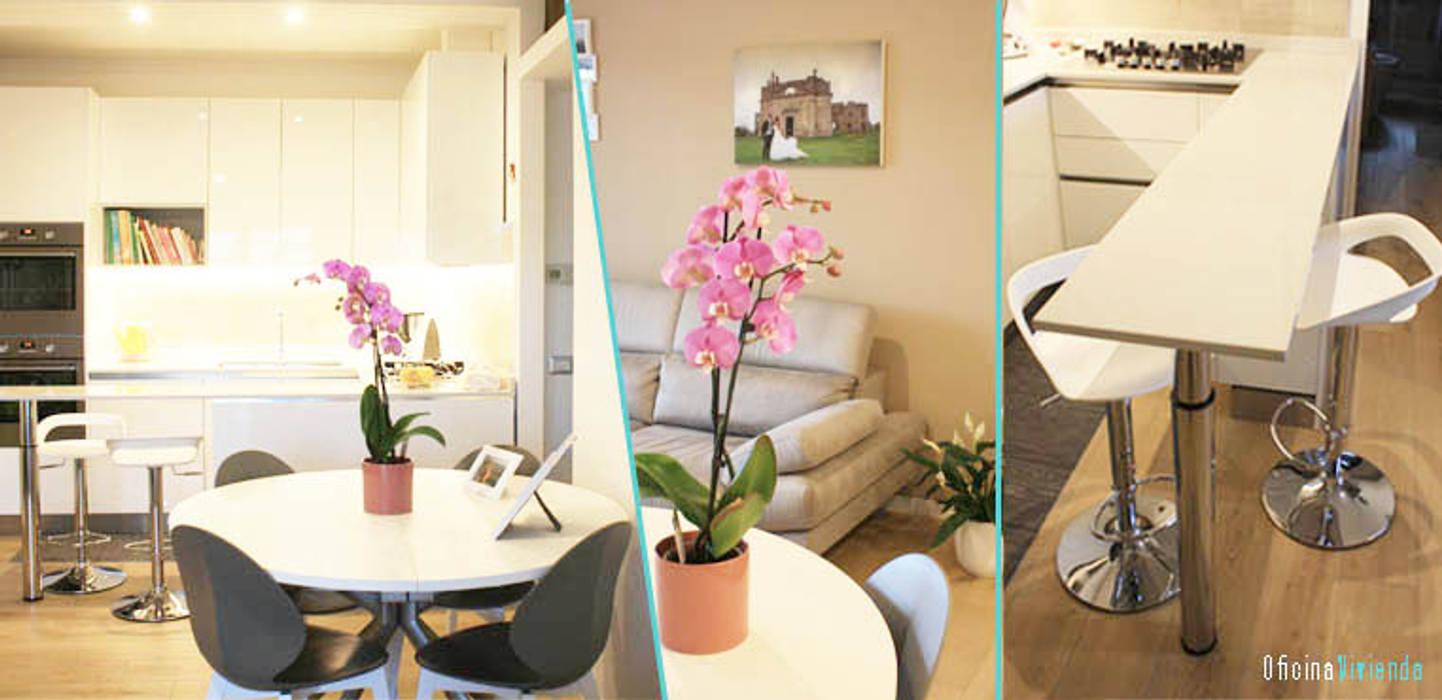Un piccolo nido per due: Cucina attrezzata in stile  di OficinaVivienda _ architettura I interior design