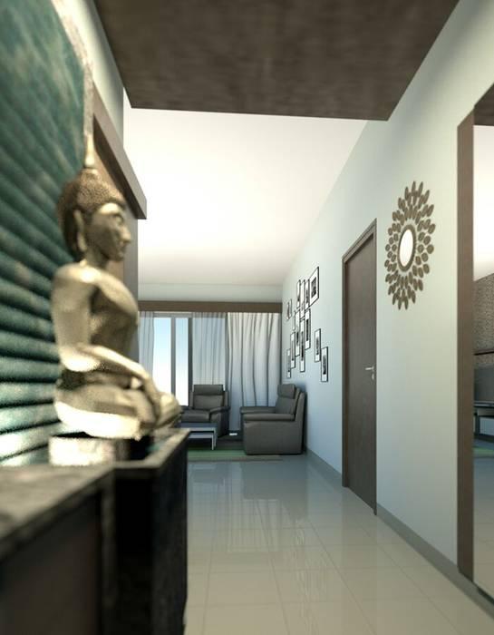 Project Modern corridor, hallway & stairs by BLUCAP LLP Modern