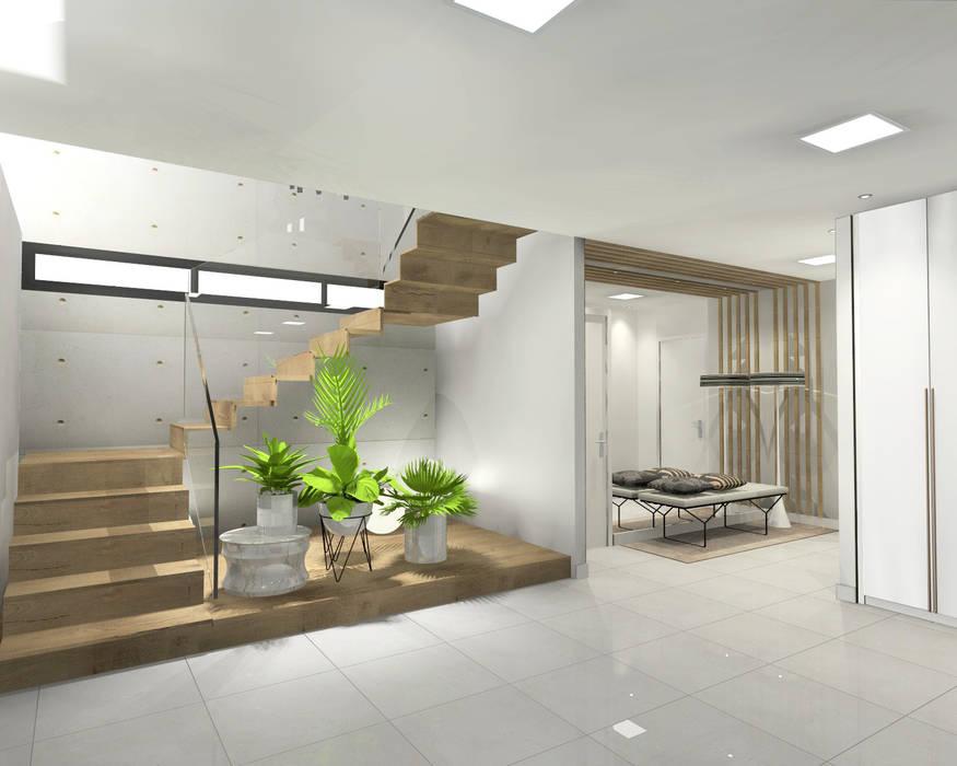 Diseño de zona de entrada garaje: Garajes de estilo  de CARMAN INTERIORISMO, Moderno