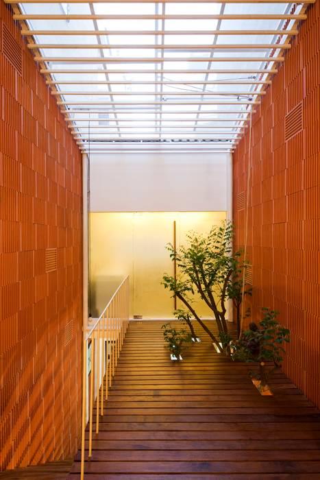 現代風玄關、走廊與階梯 根據 a21studĩo 現代風