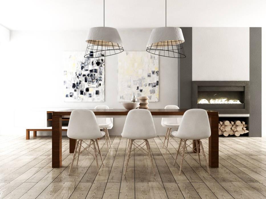 Progettazione interna abitazione stile scandinavo: Sala da pranzo in stile  di SAMANTHA PASTRELLO INTERIOR DESIGN, Scandinavo