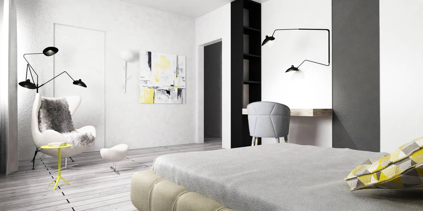 Design Scandinavo Camera Da Letto.Progettazione Interna Abitazione Stile Scandinavo Camera Da Letto