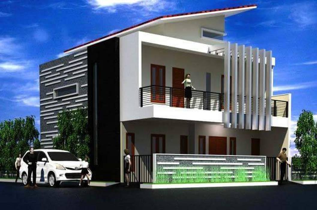 Rumah Langsing Elevenstudios Rumah Minimalis Beton Bertulang Multicolored