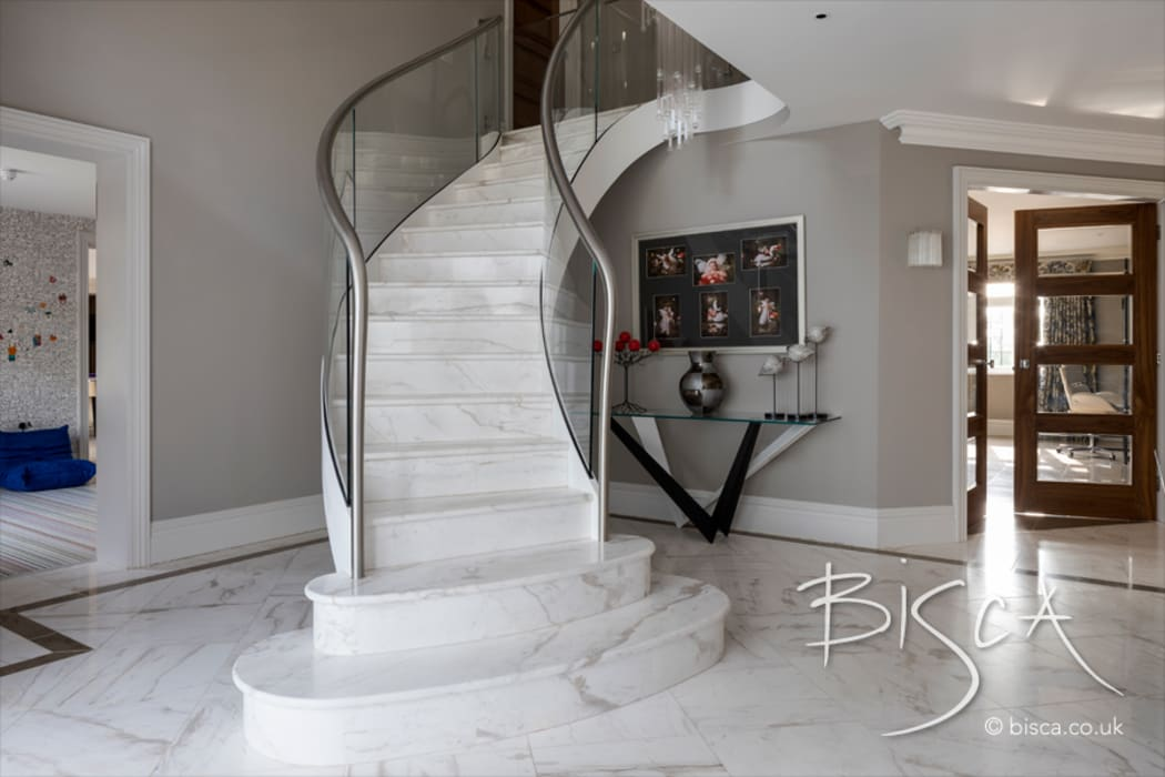 Modern Stone Staircase by Bisca Staircases Modern Stone