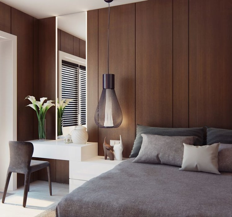 Apartment Design:  Bedroom by CONCEPTIONS,